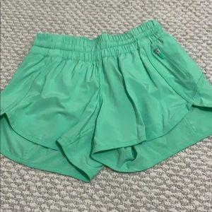 Lululemon lime green tracker short